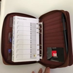 Mundex Double ZIP Brown Croco Planner